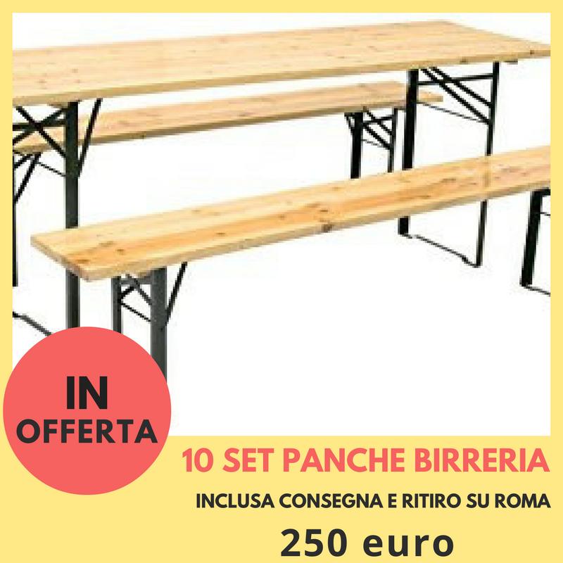 Panche E Tavoli Per Sagre.Noleggio Panche Da Birreria Roma Panche Di Legno E Set Birreria Roma